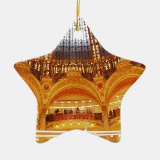 Shopping center in Paris Ceramic Ornament