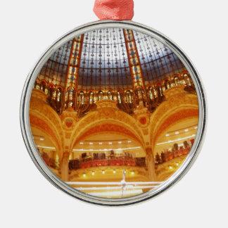 Shopping center in Paris Metal Ornament
