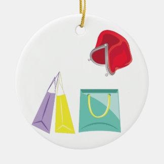 Shopping Ceramic Ornament