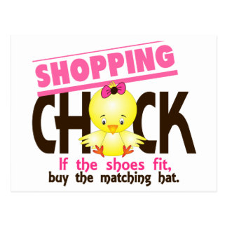 Shopping Chick 1 Postcard