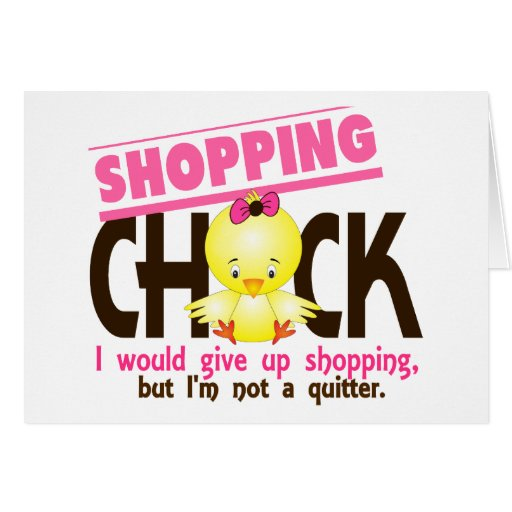 Shopping Chick 2 Card
