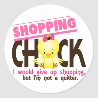 Shopping Chick 2 Classic Round Sticker