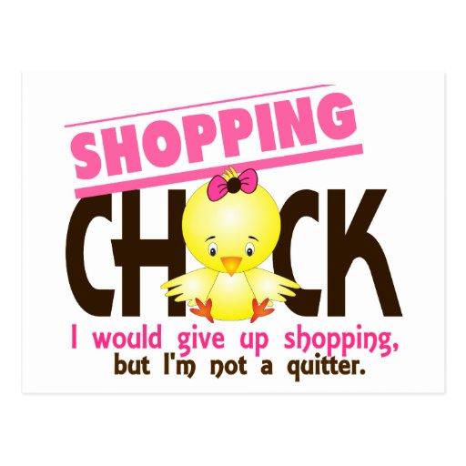Shopping Chick 2 Postcard