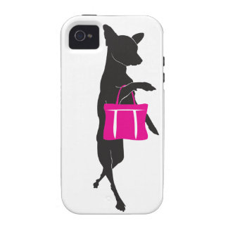 Shopping Chihuahua with Handbag Silhouette iPhone 4/4S Cover