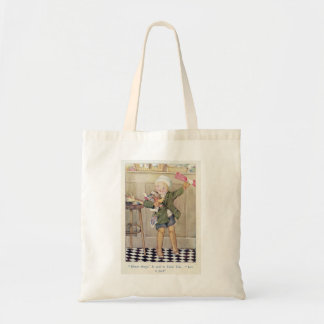 Shopping child in above the knee boots 1920 20s budget tote bag