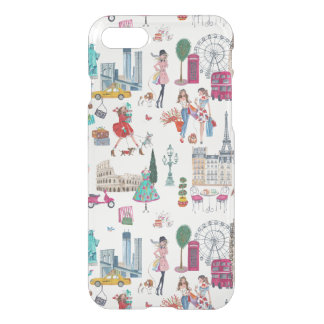 Shopping City Girl   iPhone 7 Clear Case
