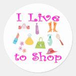 Shopping Classic Round Sticker