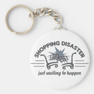 Shopping Disaster key chain