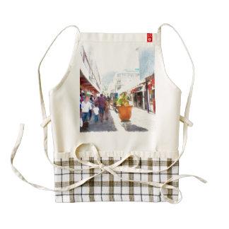 Shopping district zazzle HEART apron