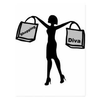 Shopping Diva Postcard