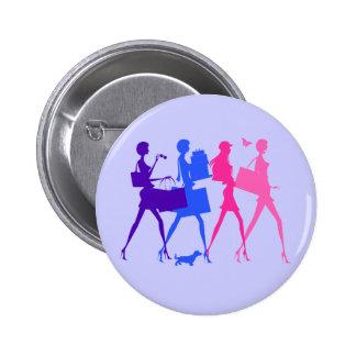 Shopping Divas 2 Inch Round Button