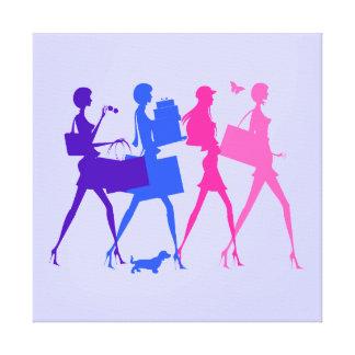 Shopping Divas Canvas Print