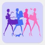 Shopping Divas Square Sticker