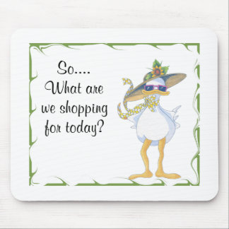 Shopping Duck Mouse Pad