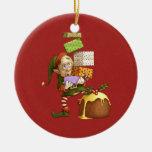Shopping Elf Christmas Tree Ornaments