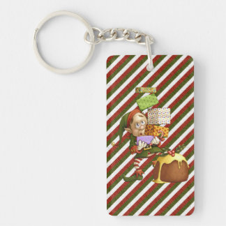 Shopping Elf Keychain