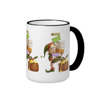 Shopping Elf Ringer Mug