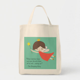 Shopping Fairy, grocery tote bag