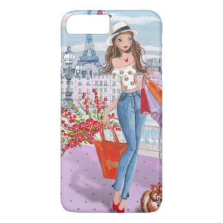 Shopping Fashion Girl Paris | Iphone 7 plus Case