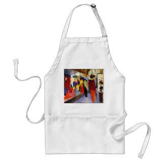 "Shopping - ""Fashion Shop"" by August Macke Adult Apron"
