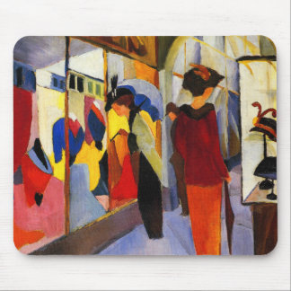 """Shopping - """"Fashion Shop"""" by August Macke Mouse Pad"""