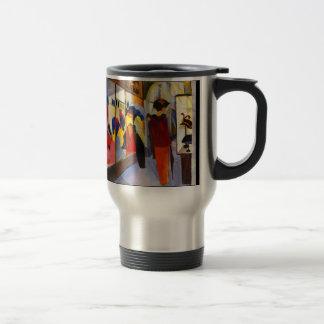 "Shopping - ""Fashion Shop"" by August Macke Travel Mug"