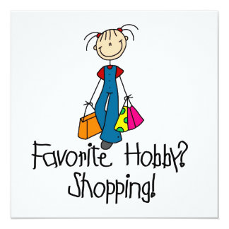 Shopping Favorite Hobby Invitation