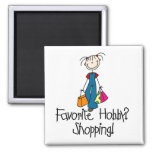 Shopping Favorite Hobby Magnet Magnets