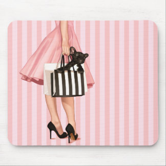 Shopping french style mouse pad