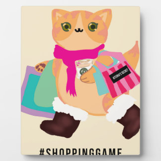 Shopping Game Basic Cat Plaque