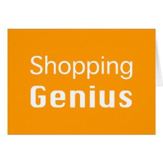 Shopping Genius Gifts Greeting Card