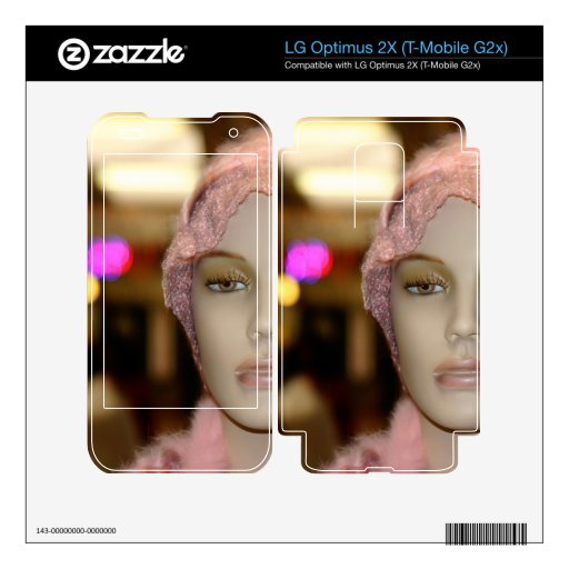 Shopping Girl Decals For LG Optimus 2X