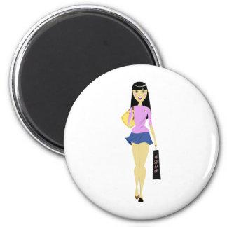 Shopping girl magnet