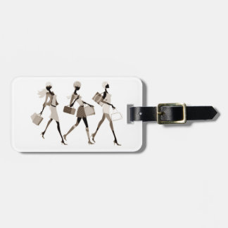 SHOPPING GIRLFRIENDS LUGGAGE TAG