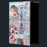 """Shopping Girls in Paris City   iPad Air 2 Case<br><div class=""""desc"""">Cartita design &#169;2015  All Rights Reserved Feel free to change or add text!  I Hope you enjoy my illustrations!    Look for your favorite Ipad Case in my store!</div>"""