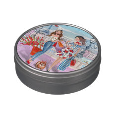 Shopping Girls In Paris | Jelly Belly™ Beans Tin Jelly Belly Tins at Zazzle