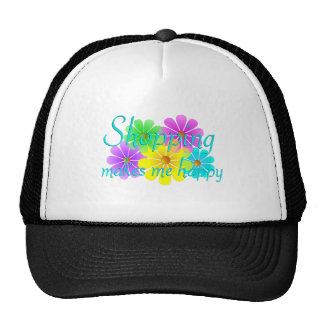 Shopping Happiness Flowers Hat