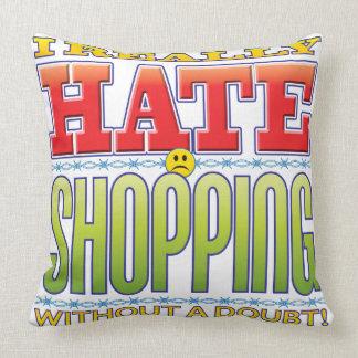 Shopping Hate Face Throw Pillows