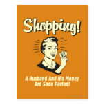Shopping: Husband and His Money Post Card