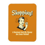 Shopping: Husband and His Money Rectangular Magnets