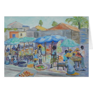 SHOPPING IN HAITI Greeting Card