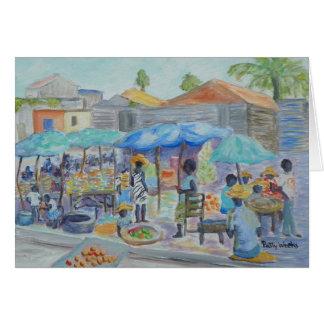 SHOPPING IN HAITI Greeting Card