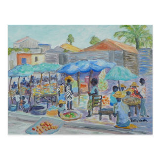 SHOPPING IN HAITI Postcard