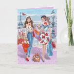 "Shopping in Paris Girls | Birthday Card<br><div class=""desc"">Cartita design &#169;2015  All Rights Reserved