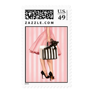 Shopping in the 50's postage stamp