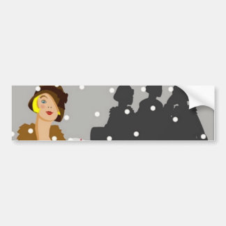 Shopping in the Snow Car Bumper Sticker