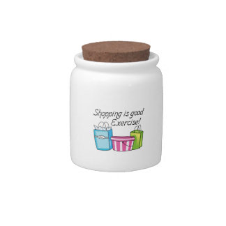 Shopping Is Good Exercise! Candy Jar
