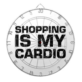 Shopping Is My Cardio Dartboard With Darts