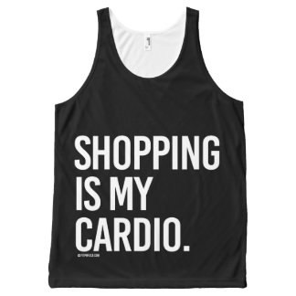 Shopping is my cardio -   Girl Fitness -.png All-Over Print Tank Top
