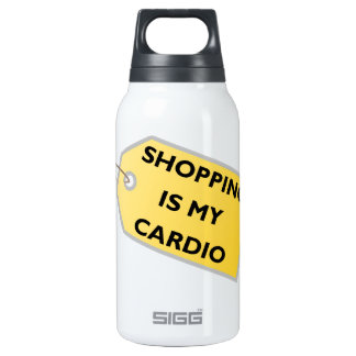 Shopping Is My Cardio Insulated Water Bottle